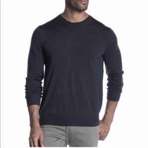 Vince Charcoal Grey Merino Wool Crewneck Sweater